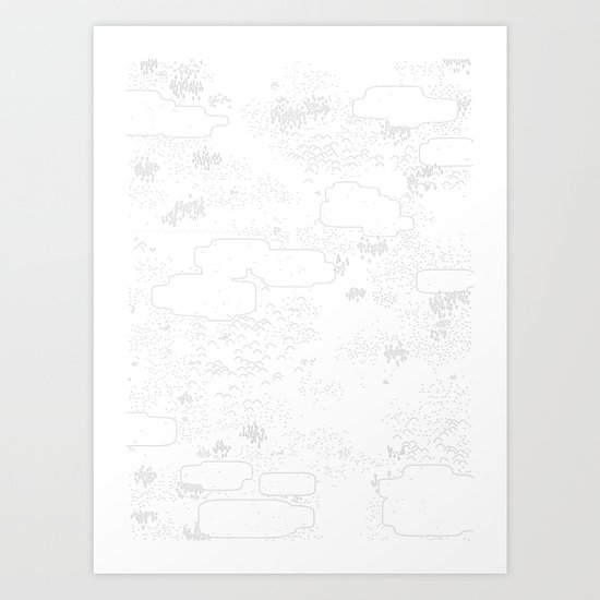 land of 15 towns and a cemetary Art Print
