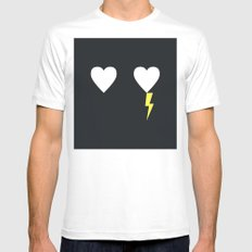 Electric Love Mens Fitted Tee MEDIUM White