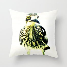 Curlew Bird Throw Pillow