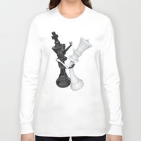 chess Long Sleeve T-shirts featuring Chess dancers by GrandeDuc