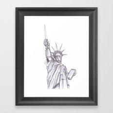 C3PO Liberty Framed Art Print