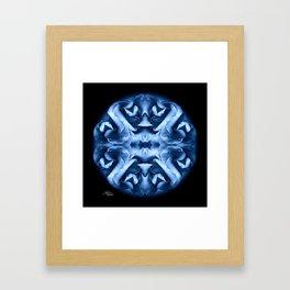 Blue Rose Mandala Framed Art Print