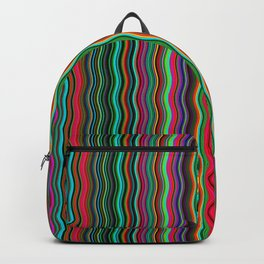 Beautiful Colorful Multicolored Wavy Stripes Backpack