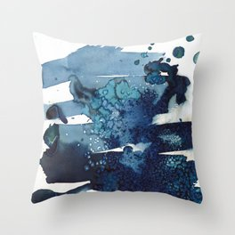 It's a windy day on the beach today. Throw Pillow