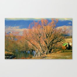 New Zealand Series - Creekside Autumn Canvas Print
