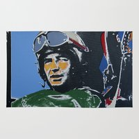 pilot Area & Throw Rugs featuring Fighter Pilot by Rob Howell