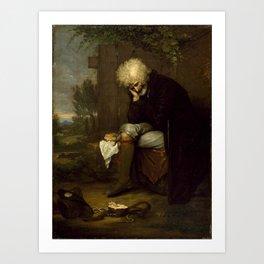 Benjamin West - The Pilgrim Mourning His Dead Ass Art Print