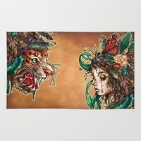 beast Area & Throw Rugs featuring BEAST by Tim Shumate