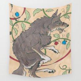 Spiel Mit Mir: Alphawolf Wall Tapestry