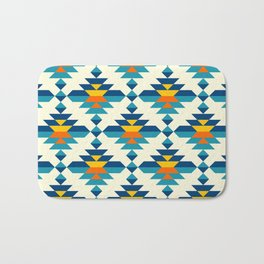 Rounded colorful aztec diamonds pattern Bath Mat