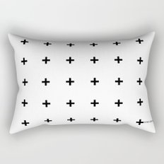 Black Plus on White /// www.pencilmeinstationery.com Rectangular Pillow