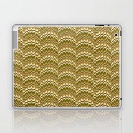 Marbling Comb - Brown Laptop & iPad Skin