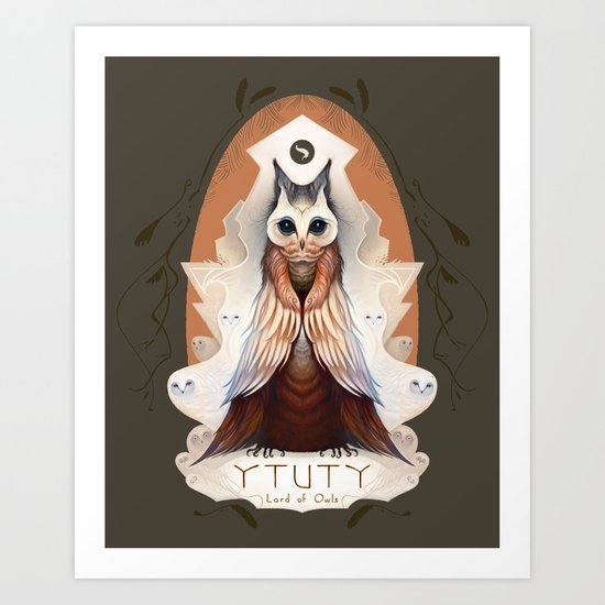 Ytuty Lord of Owls Art Print