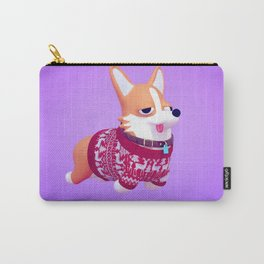 Holiday Corgi Carry-All Pouch