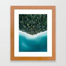 Green and Blue Symmetry - Landscape Photography Framed Art Print