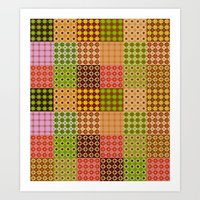 quilt Art Prints featuring quilt by Isabella Asratyan