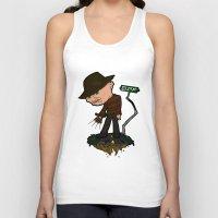 freddy krueger Tank Tops featuring Freddy Krueger Cartoon by BJ Sizemore