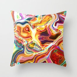 Abstract Glow Throw Pillow