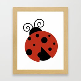Ladybug, Ladybird, Lady Beetle - Red Black Framed Art Print