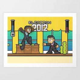 Pixelections: 2012 - Obama v. Romney Art Print