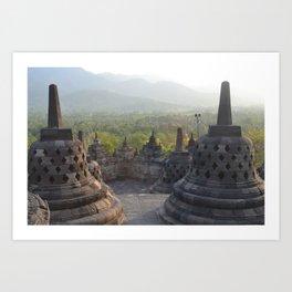 Sight view in Chandi Borobudur Art Print