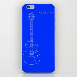 Solid Body Electric Guitar Blueprint iPhone Skin