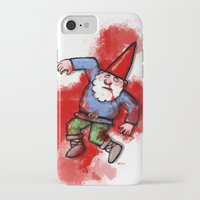 gnome iPhone & iPod Cases featuring Crushed Gnome by Stephan Brusche