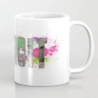 detroit Mugs featuring Detroit by Tonya Doughty