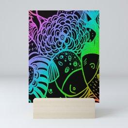 Rainbow Fishes Mini Art Print