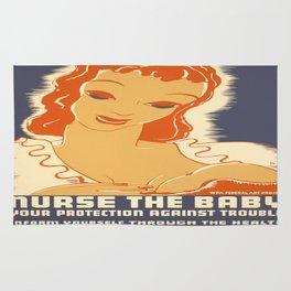 Vintage poster - Breastfeeding Rug