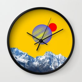 View from planet Tiamat Wall Clock