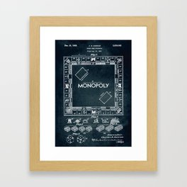 1935 - Board game apparatus (Monopoly) Framed Art Print
