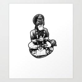 Hanuman Yoga Art Print
