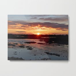Sunset from the Beach Metal Print