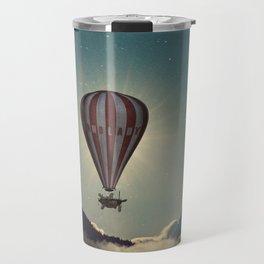 Exploring In A Steampunk Air Balloon Travel Mug