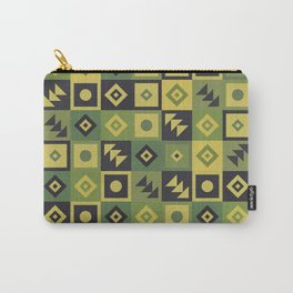Retro Geometric Floor Tile Pattern Carry-All Pouch