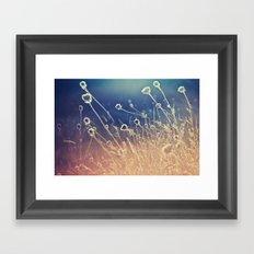 Blue and day  Framed Art Print