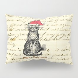 Meowy Christmas Holiday Kitty Pillow Sham