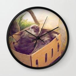 Sloth in a Box Wall Clock