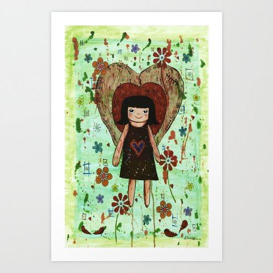 Broken girl Art Print