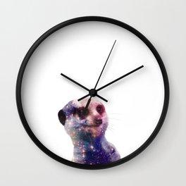 Galaxy Meerkat Wall Clock