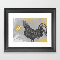 Easy now rude boy! Framed Art Print