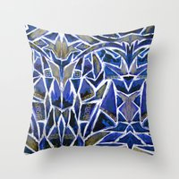 cracked Throw Pillows featuring Cracked by Lachlan Willis