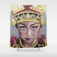 bali Shower Curtains featuring Bali Dancer by Marisa Jiménez