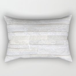 Texture of old gray concrete wall for background Rectangular Pillow