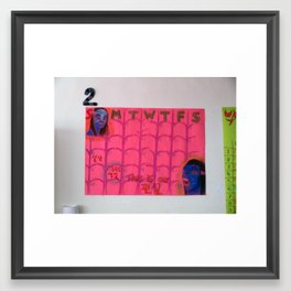 avatar calendar Framed Art Print