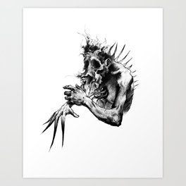 Pain Distortion Art Print