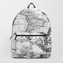 world map old vintage Backpack