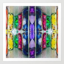 Rainbow in a jar (kaleidoscope 1) Art Print
