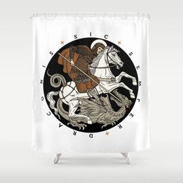 Sic Semper Draconis Shower Curtain